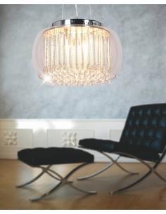 Lampa wisząca Gusto 9 Przezroczysty LDP 7019-400 PR - Lumina Deco