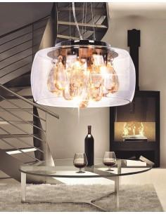 Lampa wisząca Tosso 4 Przezroczysty LDP 8066-300 - Lumina Deco