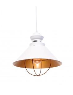 Lampa wisząca Kugar 1 Biały LDP 7930 WT - Lumina Deco