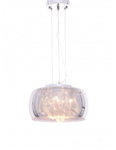 Lampa wisząca Tosso 4 Przezroczysty LDP 8066-300 CHR - Lumina Deco