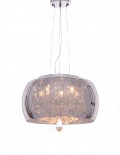 Lampa wisząca Tosso 4 Przezroczysty LDP 8066-400 CHR - Lumina Deco