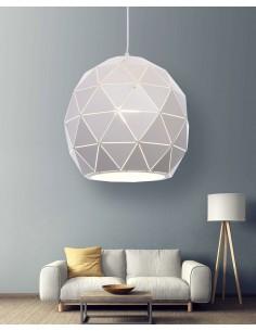 Lampa wisząca Bokka 1 Biały LDP 7412-1 WT - Lumina Deco