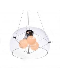 Lampa wisząca Globo 3 Przezroczysty LDP 6018-400 PR - Lumina Deco
