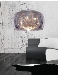 Lampa wisząca Tosso 5 Przezroczysty LDP 8066-500 CHR - Lumina Deco