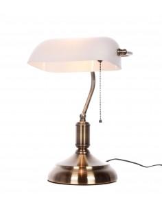 Lampa stołowa Banker 1 Biały LDT 305 WT - Lumina Deco