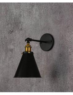Kinkiet Rubi 1 Czarny LDW B007-1 BK - Lumina Deco
