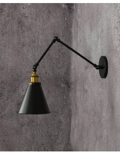 Kinkiet Rubi 1 Czarny LDW B007-2 BK - Lumina Deco