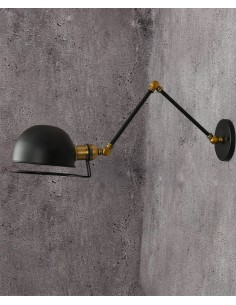 Kinkiet Glum 1 Czarny LDW B011-2 BK - Lumina Deco