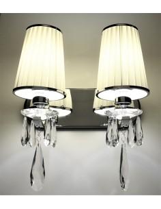 Kinkiet Alessia 2 Chrom LDW 1726-2 KR - Lumina Deco
