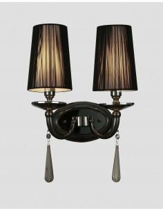 Kinkiet Fabione 2 Czarny LDW 1200-2 BK - Lumina Deco