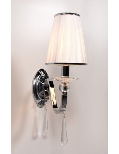 Kinkiet Federrica 1 Chrom LDW 1158-1 - Lumina Deco