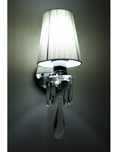 Kinkiet Alessia 1 Chrom LDW 1726-1 WT - Lumina Deco