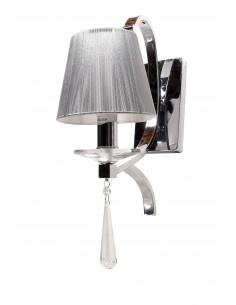 Kinkiet Venisia 1 Srebrny LDW 8035-1 - Lumina Deco