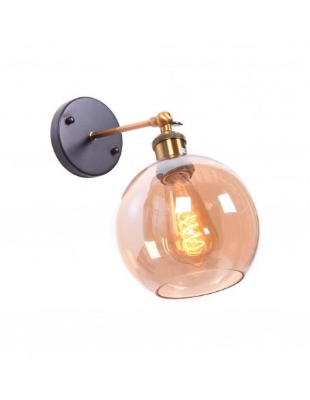 Kinkiet Navarro 1 Bursztynowy LDW 6802 - Lumina Deco