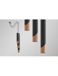 Lampa wisząca SVEG 3 drewno - Thoro