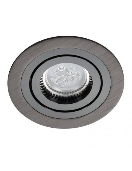 Oczko podtynkowe regulowane ALCAZAR 540.BB GU10 okrągłe czarne - Lumifall