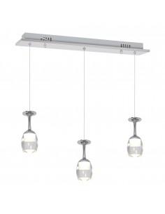 Lampa wisząca Coppa 3 Chrom ML438 - Milagro