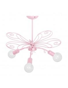 Żyrandol Motyl 3 Różowy MLP3933 - Milagro