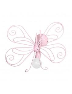 Kinkiet Motyl 1 Różowy MLP3931 - Milagro