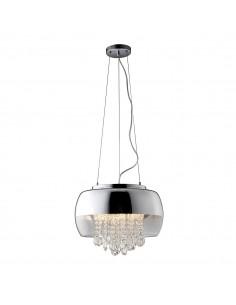 Lampa wisząca z kryształkami Luna 3  punktowa chrom ML3801 - Milagro