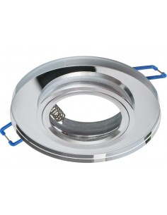 Oczko sufitowe szklane srebrne oprawa podtynkowa EKOS204 - Milagro