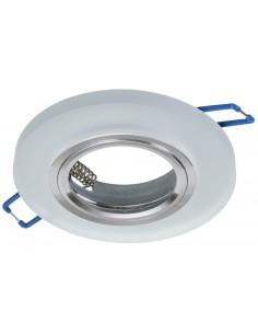 Oczko sufitowe białe szklane oprawa podtynkowa okrągła EKOS206 - Milagro