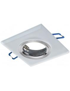 Oczko sufitowe szklane kwadratowe białe EKOS208 - Milagro