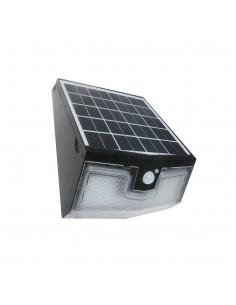 Kinkiet solarny 15W LED Transformer czarny z czujnikiem ruchu PIR IP65 4000K EKO2004 - Milagro