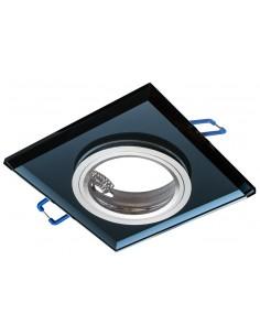 Oczko sufitowe czarne szklane kwadratowe EKOS271 - Milagro