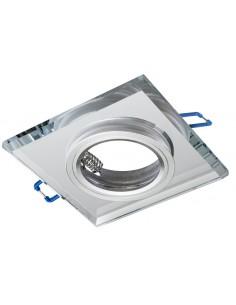 Oczko sufitowe szklane kwadratowe srebrne EKOS270 - Milagro