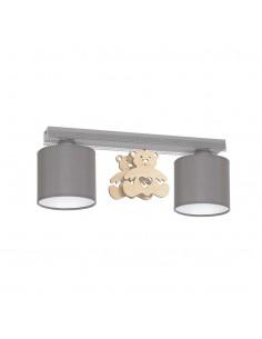 Lampa sufitowa Miś 2 Szary MLP4964 - Milagro