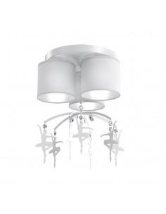 Lampa sufitowa Baletnica 3 Biały MLP4968 - Milagro