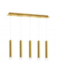 Lampa wisząca LED Goldie 5 Złoty ML5715 - Milagro