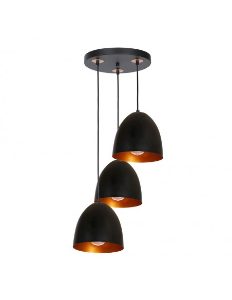 Lampa wisząca Vegas 3 Czarny MLP5589 Milagro