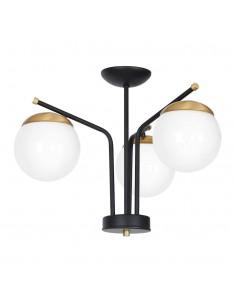 Lampa sufitowa Carina 3 Czarny MLP4866 - Milagro