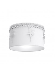 Plafon Baletnica kryształki biały MLP4970 - Milagro