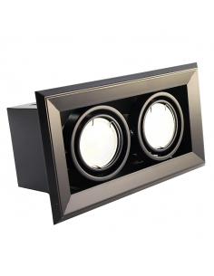 Oprawa podtynkowa BLOCCO 2 czarna regulowana 7W GU10 LED ML475 - Milagro