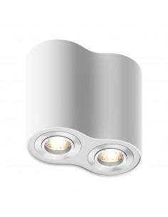 Downlight 2 punktowy biały Rondoo tuba regulowana 50407-WH- Zuma Line