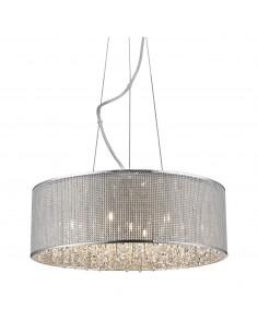 Lampa wisząca srebrna Blink 7 punktowa P0173-07W-F4B3 - Zuma Line