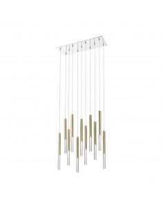 Lampa wisząca złota LED One 11 punktowa P0461-11L-B5F7 - Zuma Line