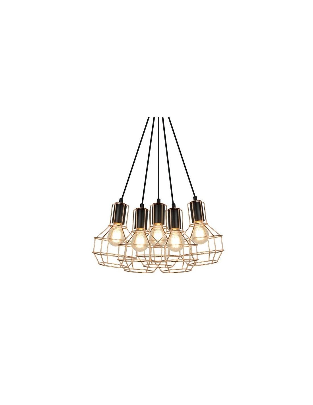 Lampa wisząca Giulio 5 punktowa miedziana P12105 L 5 Zuma