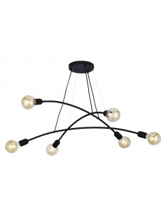 Lampa wisząca czarna Helix 6 punktowa 2726 - TK Lighting