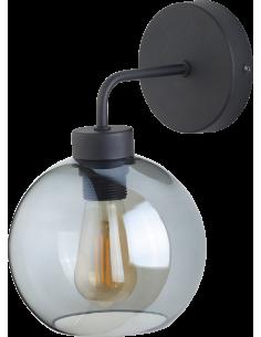 Kinkiet Bari 1 punktowy szklany czarny 4019 - TK Lighting
