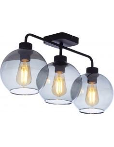 Lampa sufitowa czarna Bari szklana 3 punktowa 4020 - TK Lighting