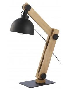 Lampka biurkowa Oslo czarna 1 punktowa drewniana 5021 - TK Lighting