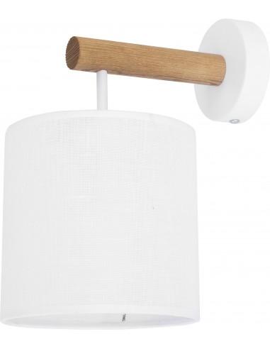 Kinkiet biały Deva White 1 punktowy drewno 4108 - TK Lighting