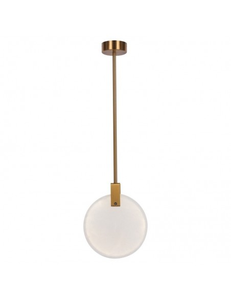Lampa wisząca LED Marble marmur i mosiądz 30 cm ST-8950-30 - Step into design