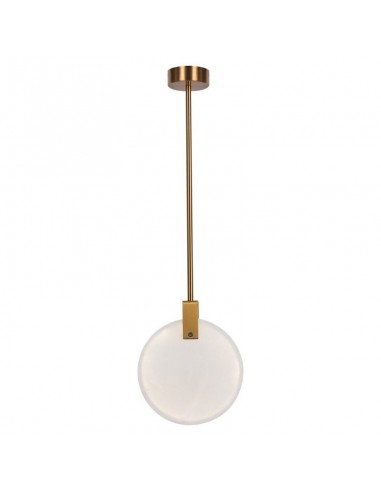 Lampa wisząca marmurowa LED Marble 24 cm mosiądz LED ST-8950-24 - Step into design