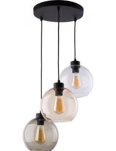 Lampa wisząca Cubus 3 punktowa czarna szklana 2831 - TK Lighting