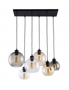 Lampa wisząca szklana Cubus 6 punktowa kule czarna 2164 - TK Lighting
